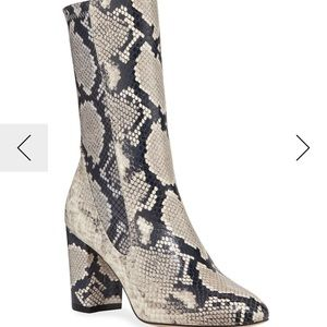 Stuart Weitzman ankle boots in python print